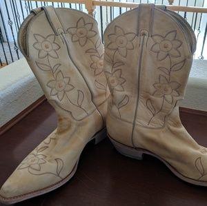 Yellow Women's Justin Boots Size 11B